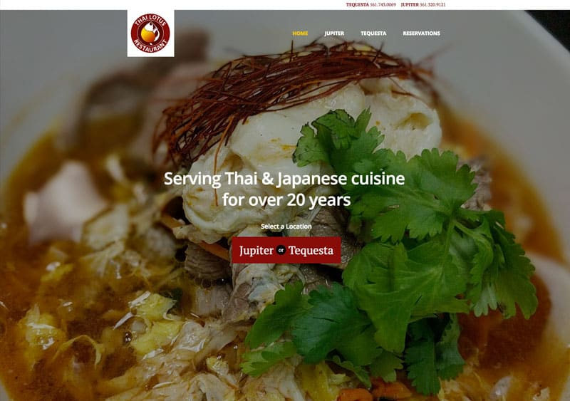 Thai Lotus Restaurant Granat Design
